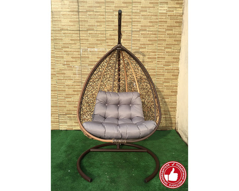 Подвесное кресло Сакала бежево-коричневое
