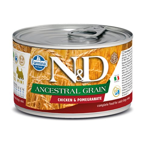 Farmina Dog Ancestral Grain Chicken & Pomegranate Mini Консервы для собак мелких пород Низкозерновые с Курицей и гранатом