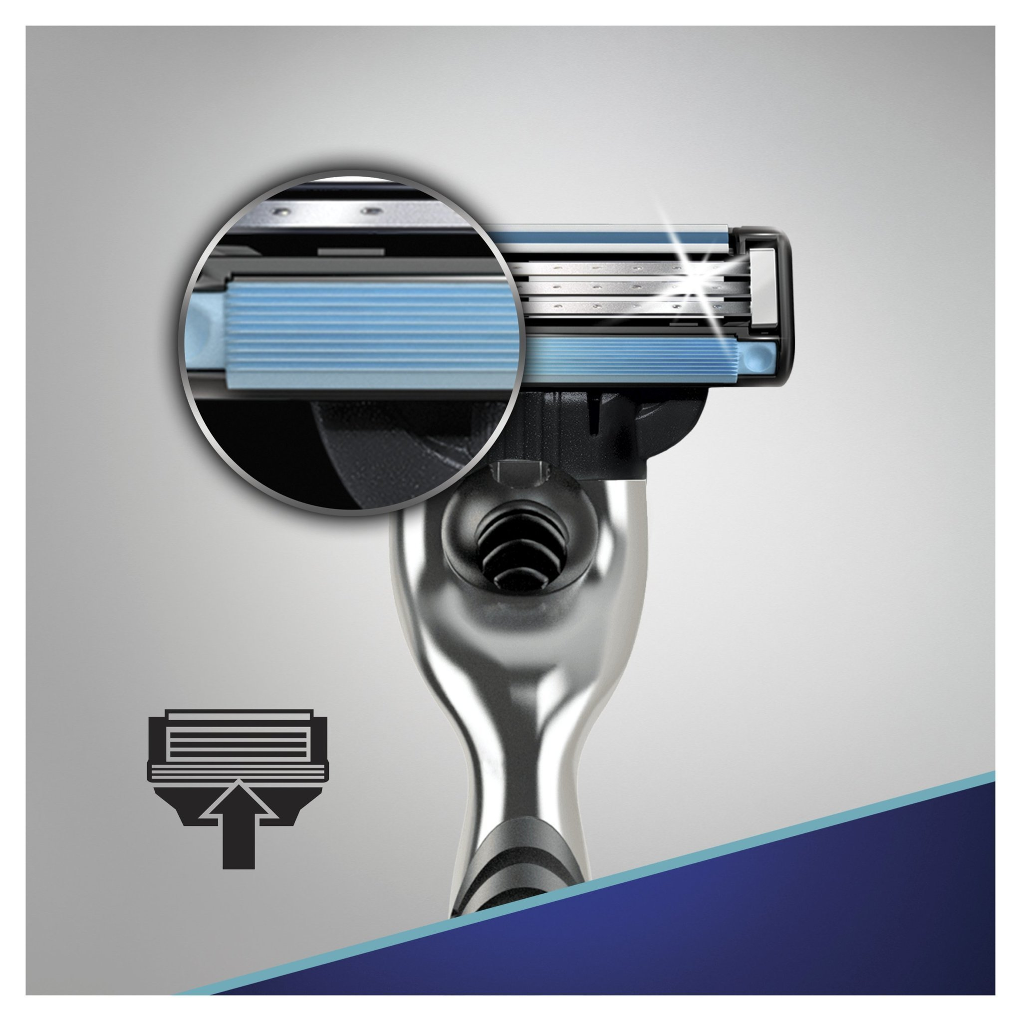 Gillette mach3 комплект (5х8) 40 шт. (Цена за 1 пачку 783р.)