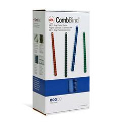 Пружины для переплета пластиковые GBC 22 мм синие (100 штук в упаковке)