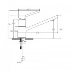 Смеситель KAISER Sona 75033 для кухни  схема