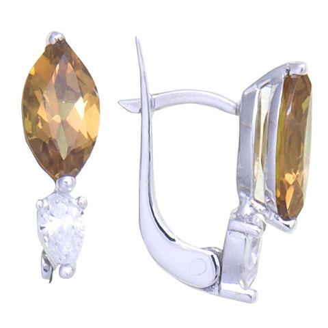 Серьги из серебра с султанитом Арт.2258с