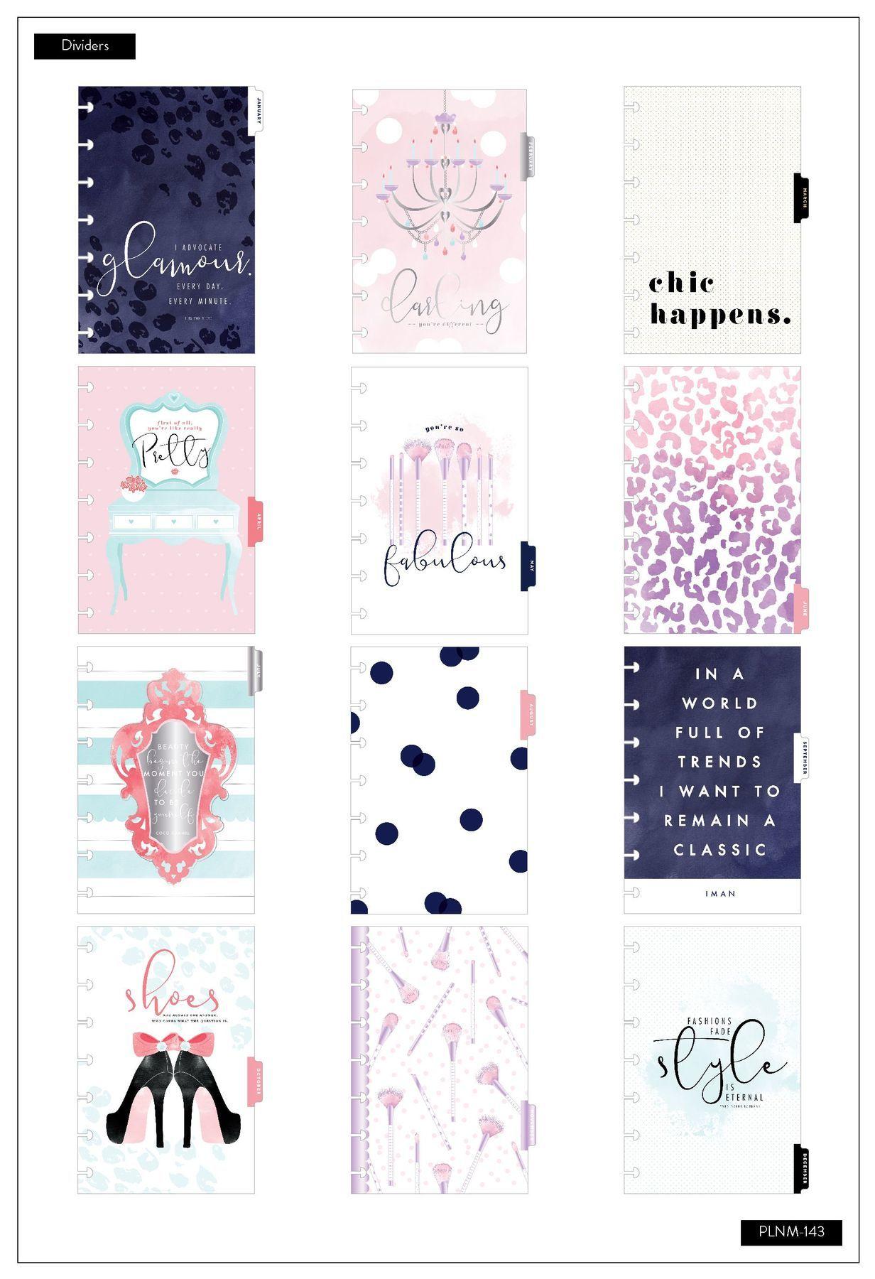 Ежедневник на 2020г Mini Happy Planner® - 12,5х18см. -Glam Girl