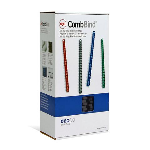 Пружины для переплета пластиковые GBC 12 мм черные (100 штук в упаковке)
