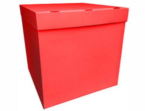 Коробка для шаров с персональным оформлением красная