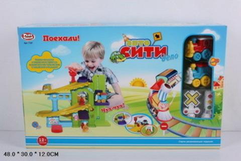 СПЕЦЦЕНА Гараж 7187 Автосити паровозы в кор с парковкой/7187