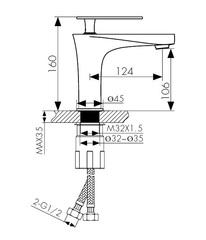 Смеситель KAISER Star 02011 для раковины схема