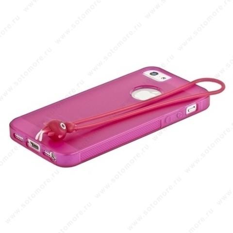 Накладка HOCO для iPhone SE/ 5s/ 5C/ 5 - HOCO Classic TPU crystal case Rose red