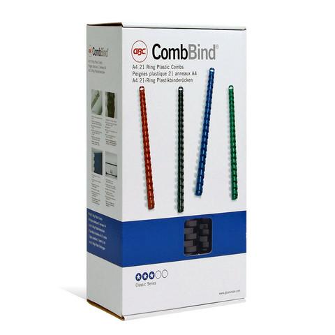 Пружины для переплета пластиковые GBC 14 мм черные (100 штук в упаковке)