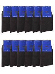 NO912 носки мужские, черные 42-46 (12 шт)