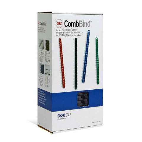 Пружины для переплета пластиковые GBC 16 мм черные (100 штук в упаковке)