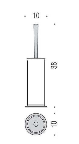 Туалетный ершик напольный Colombo Link B2406,  хром схема