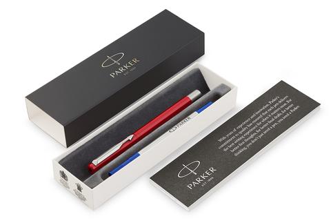 Ручка-роллер Parker Vector Standard T01, цвет: Red, стержень: Mblue123
