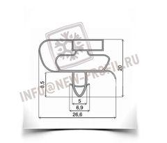 Уплотнитель 96*56 см для холодильника Атлант МХМ-1705-03 КШД380/150 (холодильная камера) Профиль 021