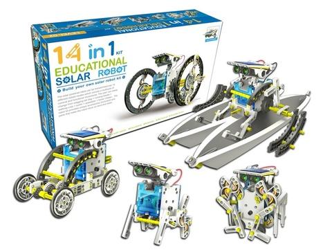 Конструктор на солнечных батареях Educational Solar Robot Kit 14 в 1
