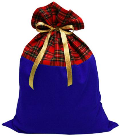 Мешок для подарков синий