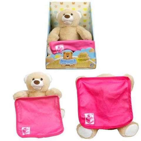 Мишка-Играет в Прятки, розовое одеялко