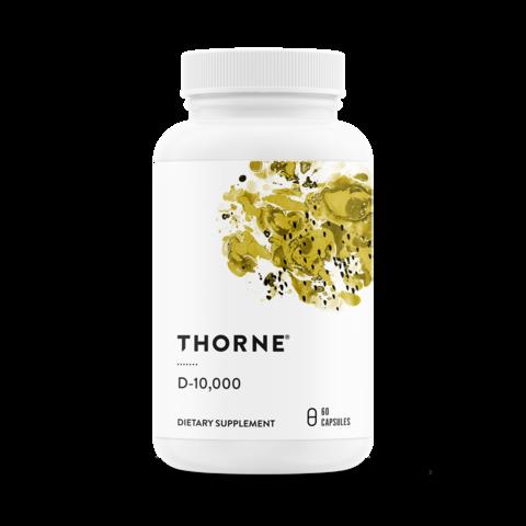 Thorne, Витамин D-10,000, 60 капсул
