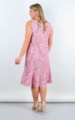 Ванила. Нежное платье плюс сайз. Пудра.