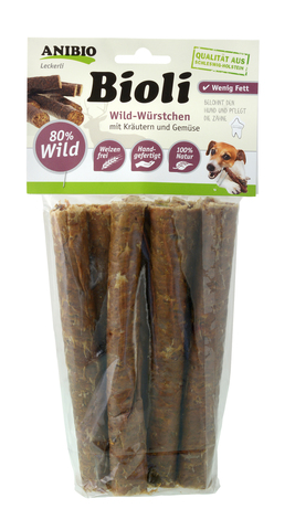 """""""Bioli Wild"""" Собачья колбаска с мясом дичи"""