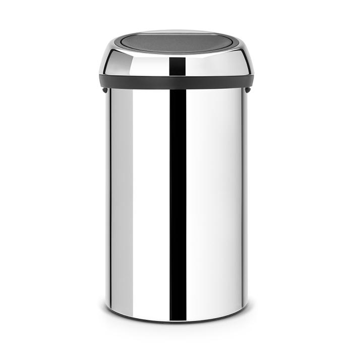 Мусорный бак Touch Bin (60 л), Стальной полированный, арт. 402609 - фото 1