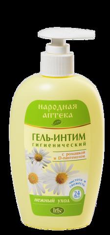 Iris Народная аптека Гель-интим с ромашкой и D-пантенолом с дозатором 250мл