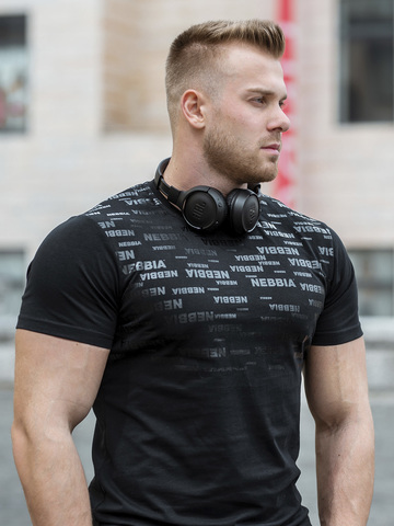 Мужская футболка Nebbia 145 black