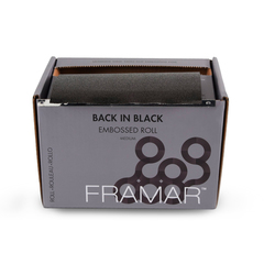 Embossed Roll Medium Back In Black   Фольга в рулоне с тиснением «Во власти черного» (98 м) в упаковке