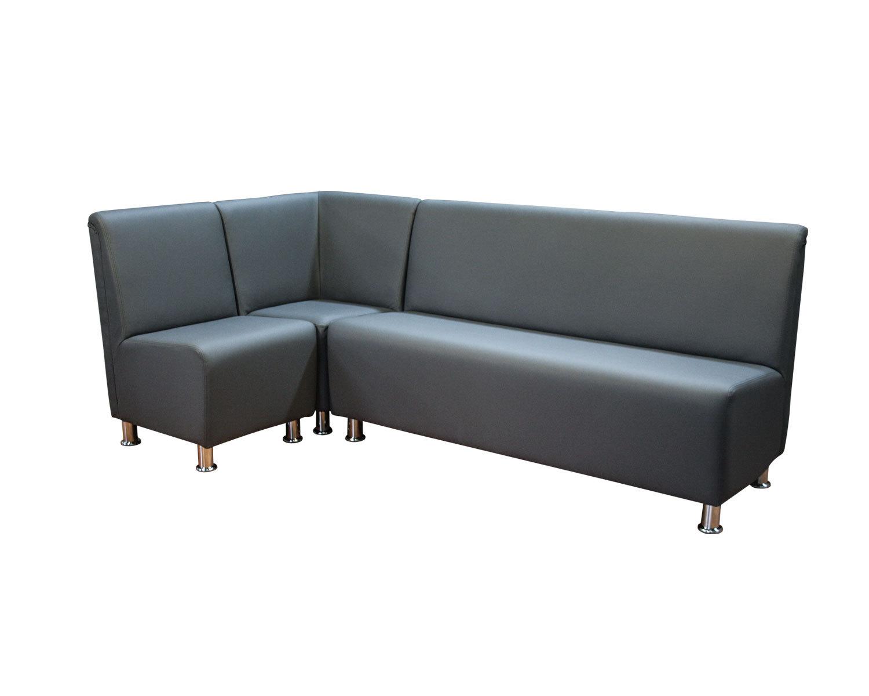 Комбинация из закрытого угла и кресла и 3-местного прямого дивана Дели