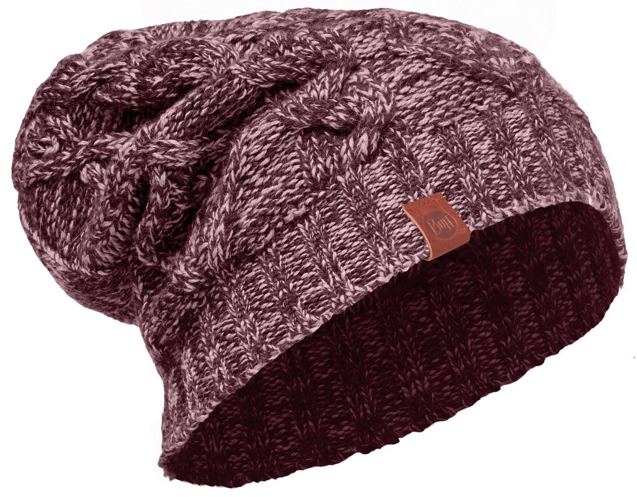 Длинные шапки Вязаная шапка-бини Buff Nuba Heather Rose 2008.557.10.jpg