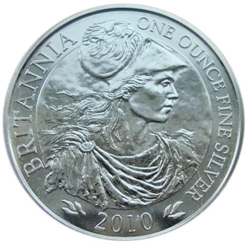 2 фунта. Британия. Серебро. 2010 г. Великобритания. В запайке