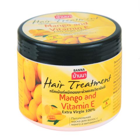 Питательная маска для волос Banna с манго и витамином Е, 300 мл.