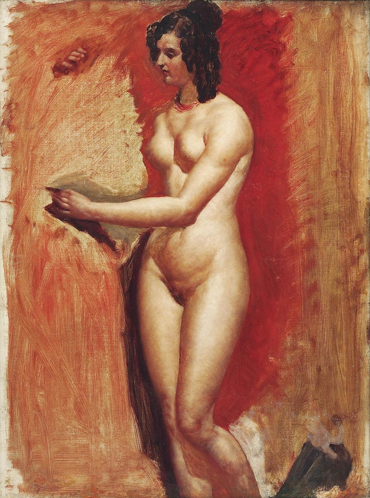 Уильям Этти. Этюд обнаженной (Study of a Female Nude). 60 x 49.5. Холст, масло. Частное собрание.