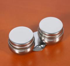 Металлическая двойная масленка с крышками