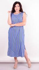 Мохито. Оригинальное платье плюс сайз. Полоса.