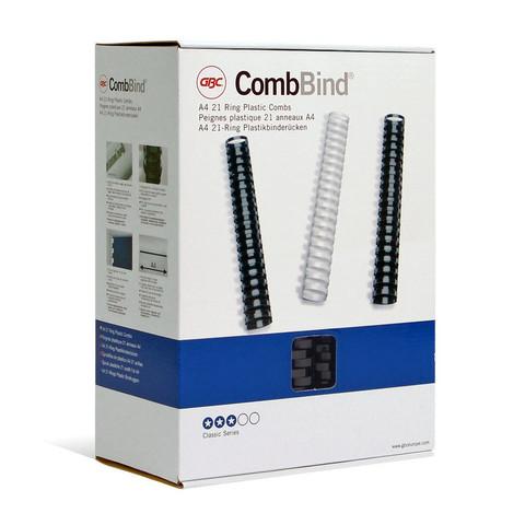 Пружины для переплета пластиковые GBC 45 мм черные (50 штук в упаковке)