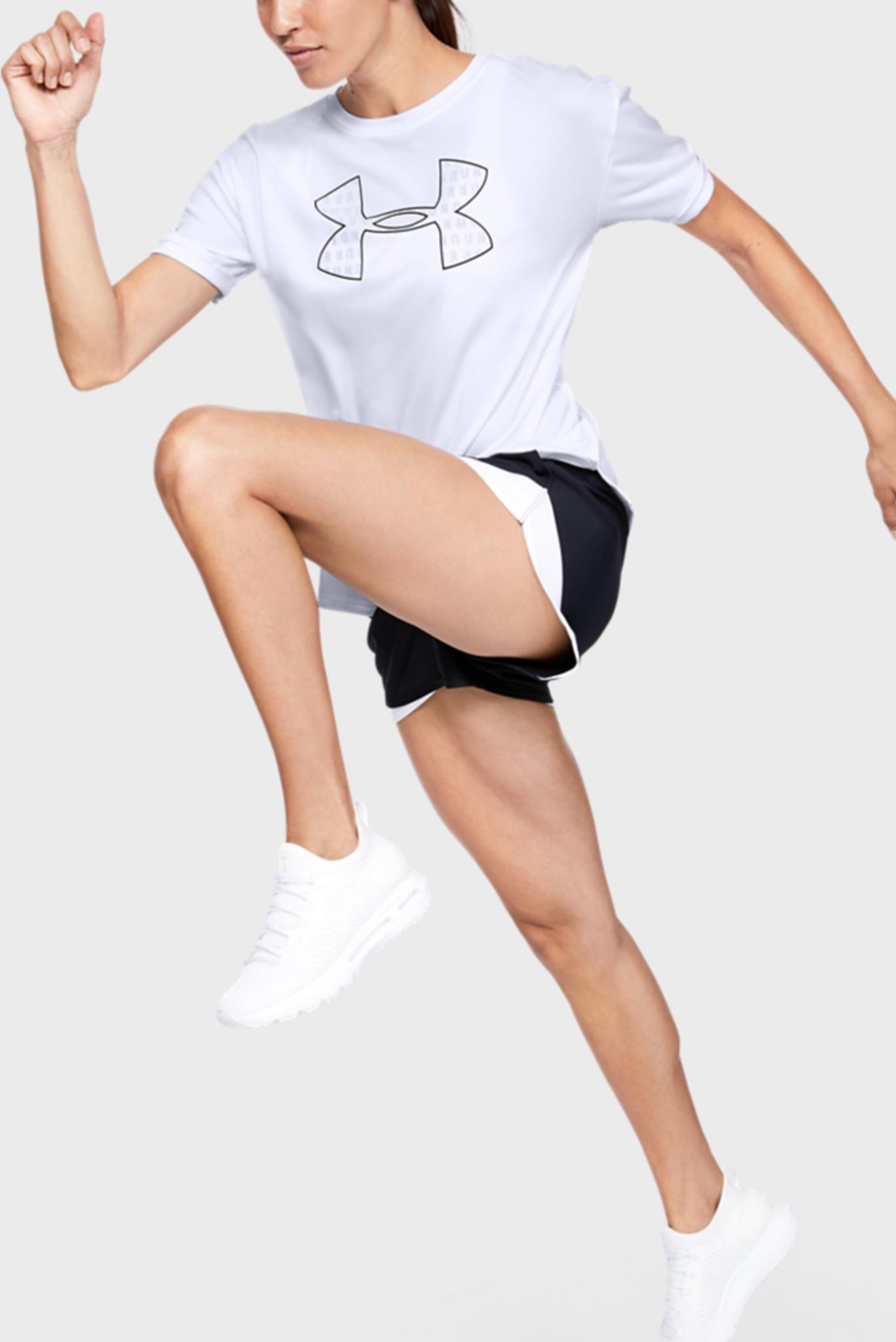 Женская белая спортивная футболка Performance Graphic SS Under Armour