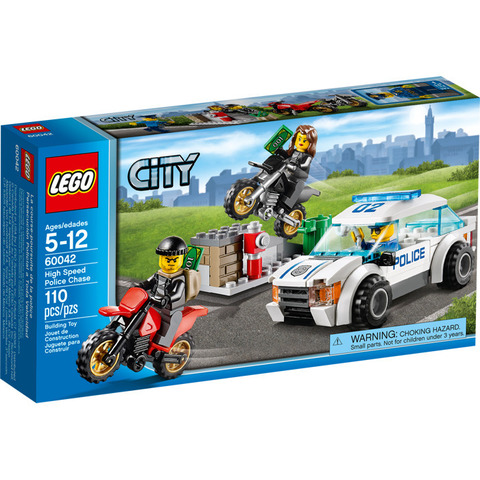 LEGO City: Погоня за воришками-байкерами 60042 — High Speed Police Chase — Лего Сити Город