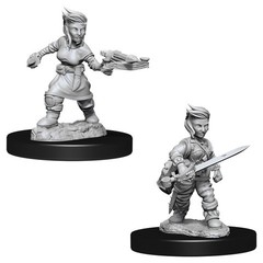 Pathfinder Deep Cuts Unpainted Miniatures - Female Hafling Rogue