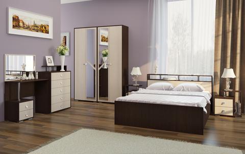 Кровать Саломея БК-1,6м БТС Венге/лоредо