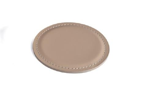 Костер из кожи - подставка для чашки цвет CAFE LATTE