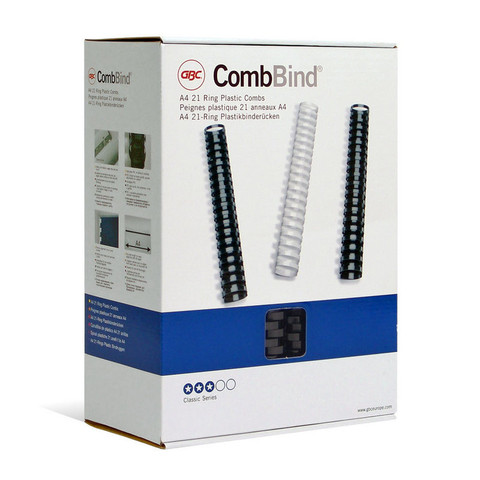 Пружины для переплета пластиковые GBC 51 мм черные (50 штук в упаковке)