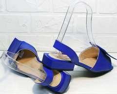 Открытые сандали босоножки на выпускной женские Amy Michelle 2634 Ultra Blue