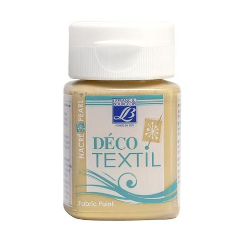 Краска по ткани Lefranc&Bourgeois DECO TEXTIL 50 мл 739, перламутровый золотой