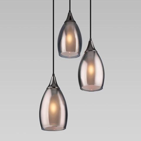Подвесной светильник со стеклянными плафонами 50085/3 черный жемчуг