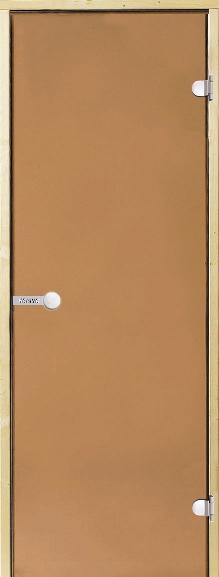 Дверь Harvia STG 9×19 коробка сосна, стекло бронза, фото 1