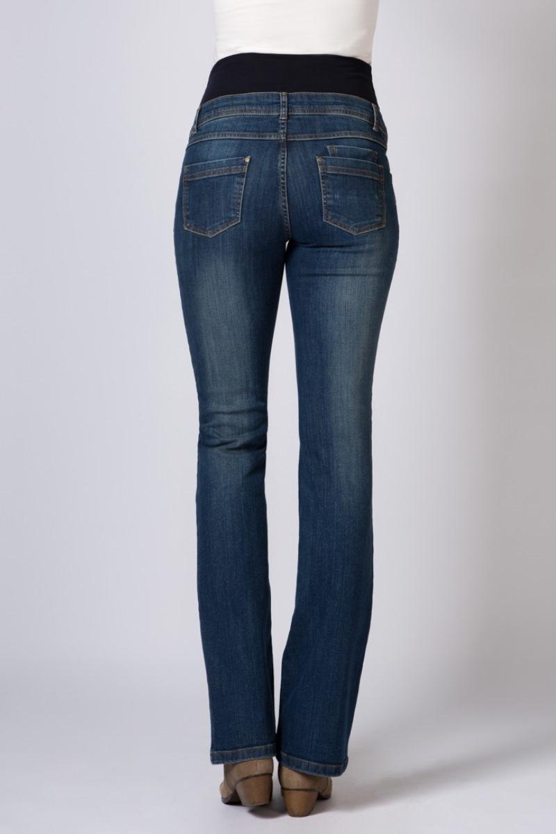 Фото джинсы для беременных GEBE, высокий бандаж, регулировка объема от магазина СкороМама, синий, размеры.