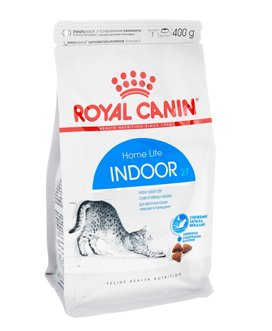 Royal Canin Indoor 27 сухой корм для кошек, живущих в помещении 400 г