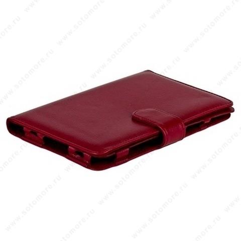 Чехол-книжка для Samsung Galaxy Tab 7.0 Plus P6200/ P6210 бордовый с заклепкой