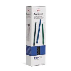 Пружины для переплета пластиковые GBC 8 мм черные (100 штук в упаковке)